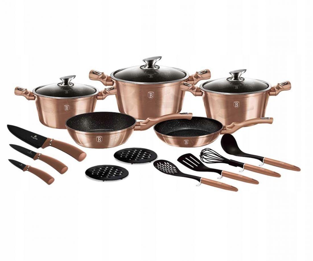Набор посуды 17 пр. BERLINGER HAUS BH 6161 Rosegold Line