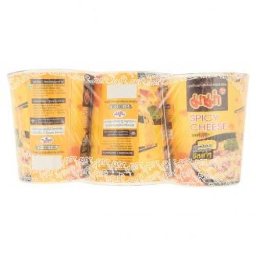 Суп-лапша быстрого приготовления острая с сыром Mama 3 стакана по 63 гр