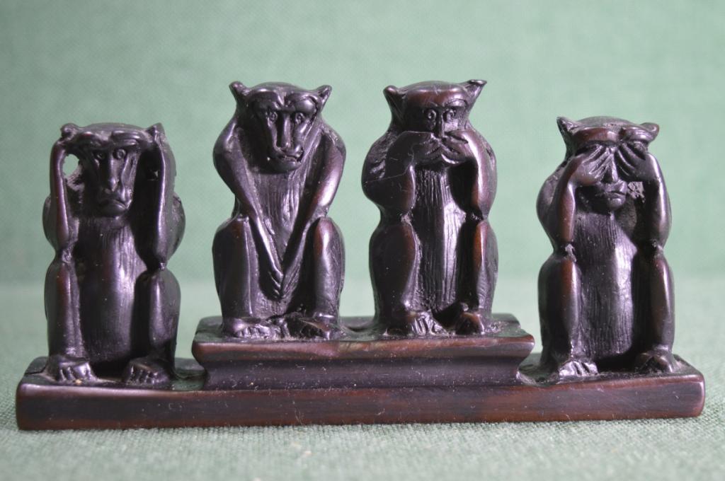 Статуэтка со смыслом Четыре обезьяны 1 шт