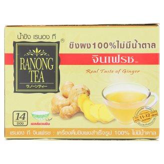 Имбирный чай для похудения Ranong Tea без сахара 14 пак