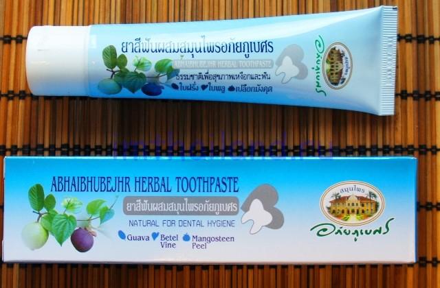 Коричневая тайская зубная паста с мангостином Абхай 70 гр