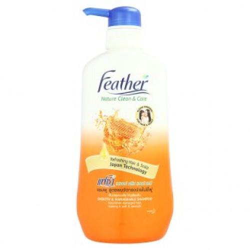 Шампунь для волос Мед и Протеины шелка Feather Nature 480 мл
