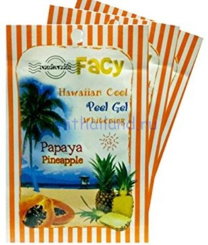 """Гель-скатка для лица """"Гавайи"""" с папайей и ананасом Facy 15гр"""
