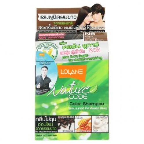 Оттеночный тайский шампунь для волос Lolane цвет Золотисто-Коричневый