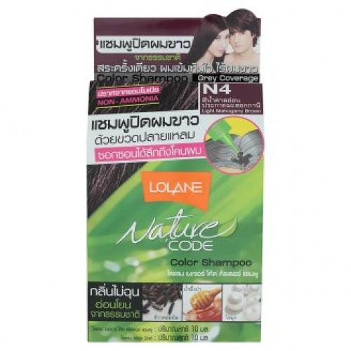 Тайский оттеночный шампунь для волос Lolane цвет Махагон