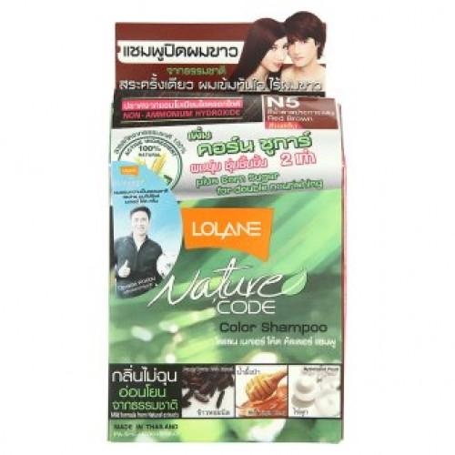 Тайский шампунь для волос оттеночный Lolane цвет Красно-Коричневый