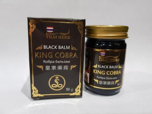 Бальзам королевской кобры тайский черный Royal Thai Herb 50 гр