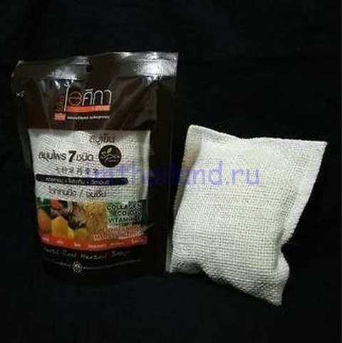 Ароматное СПА мыло в мешочке 7 трав Supaporn 70 гр
