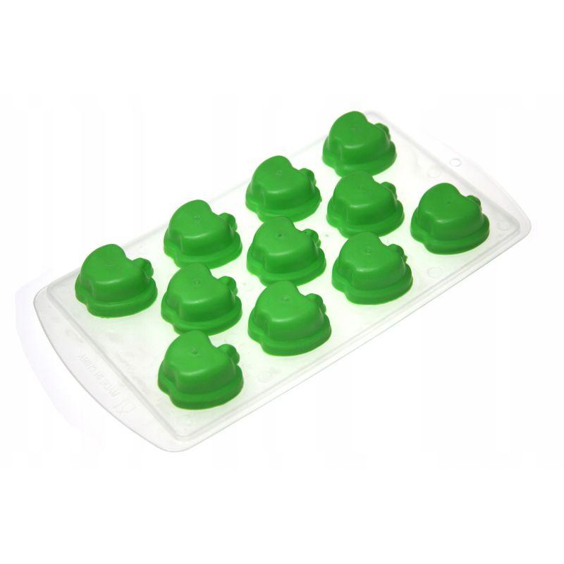 Форма для льда силиконовая Яблоки (цвет зелёный)