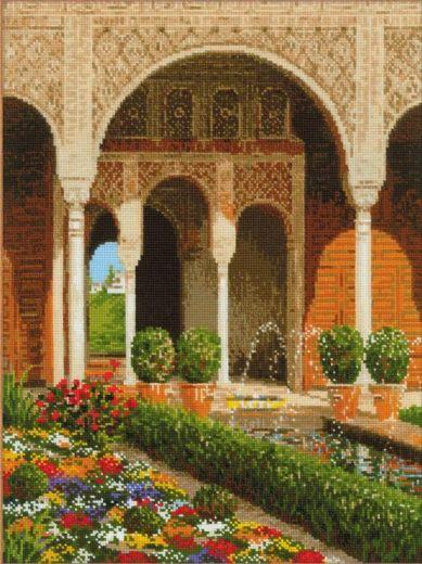 Набор для вышивания крестом Двор ручья. Дворец Хенералифе № 1579 фирма Риолис