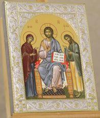 Деисус икона Спас на престоле с предстоящими (14х18см)