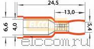 РАЗЪЁМ ШТЕКЕРНЫЙ изолированный ( VF 5.5- 156A ) REXANT