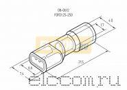 КЛЕММА ПЛОСКАЯ полностью изолированная ( VF 1.25- 250A ) REXANT