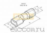 КЛЕММА ПЛОСКАЯ полностью изолированная ( VF 2- 187(8) А) REXANT