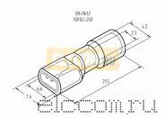 КЛЕММА ПЛОСКАЯ полностью изолированная ( VF 2- 250A ) REXANT