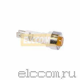 Индикатор c ОТРАЖАТЕЛЕМ ?10 220V желтый (RWE-209)