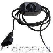 Шнур сетевой для бра с димером (регулятором света) белый, черный