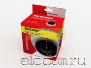 Муляж внутренней купольной камеры видеонаблюдения белого цвета с мигающим красным светодиодом Rexant