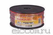 Кабель акустический 2х0.25 мм2 100м (красно-черный) REXANT