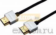 Шнур HDMI - HDMI gold, 1,5 М, Ultra Slim (блистер) Rexant
