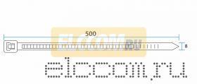Хомут nylon 8.0 х 500 мм 100 шт белый REXANT