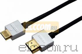 Шнур HDMI -mini HDMI gold, 1,5 М, Ultra Slim (блистер) Rexant