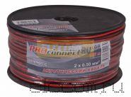 Кабель акустический 2х0.5 мм2 100м (красно-черный) PROCONNECT