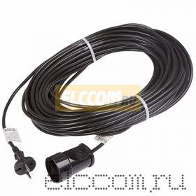 Удлинитель шнур 30м (1 роз.) 2х0.75 черный REXANT (Сделано в РОССИИ)