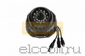 Купольная камера видеонаблюдения 960H с ИК-подсветкой и микрофоном