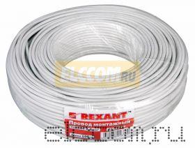 Провод монтажный (автомобильный) 2.5 мм2 100м белый (ПГВА) REXANT