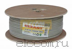 Кабель RG-8X (50 Ом) 100м серый REXANT