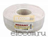 Кабель Microcoaxial+Cu (75 Ом)D4мм 200м белый REXANT