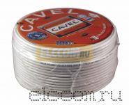 Кабель SAT 50м+CU/CU (75 Ом) 100м белый CAVEL