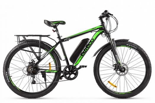 Велогибрид Eltreco XT 800 new Серо зеленый