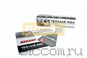 Тёплый пол (нагревательный мат) REXANT Classic RNX-12, 0-1800 (площадь 12, 0 м2 (0, 5 х 24, 0 м)), 1800 Вт, двухжильный с экраном