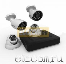 Комплект видеонаблюдения на 2 внутренние и 2 наружные камеры AHD-M (без HDD) ProConnect