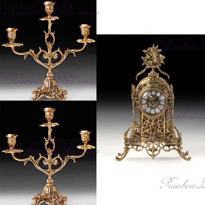 """Набор часы и 2 канделябра 5520-4202 """"Virtus"""""""