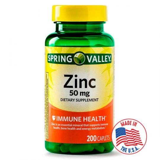 Цинк 50 мг Spring Valley, США (200 таблеток)