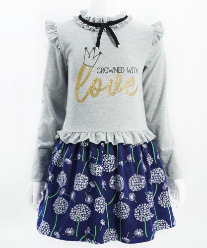 "Платье для девочек Bonito ""Crowned with Love"" меланж"