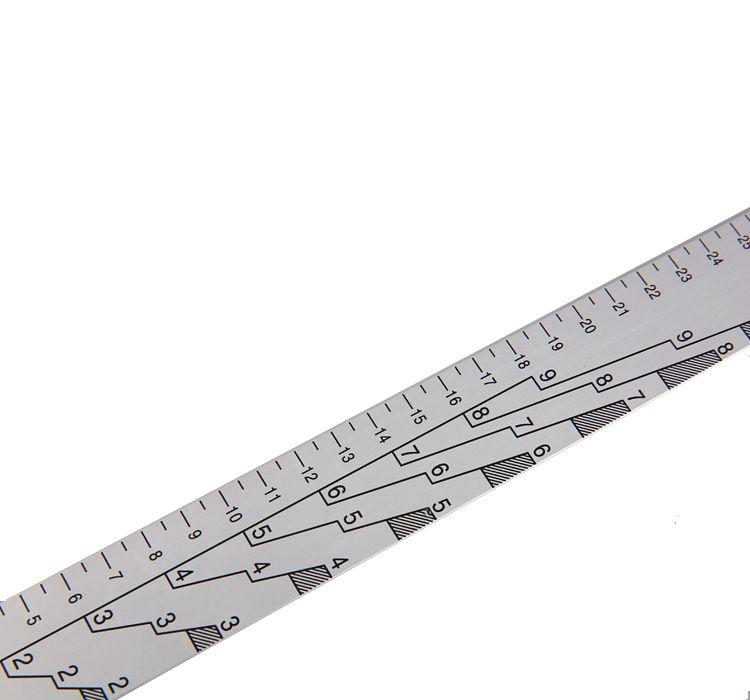 A1 Aluminium paint stick алюминиевая мерная линейка, 35см.