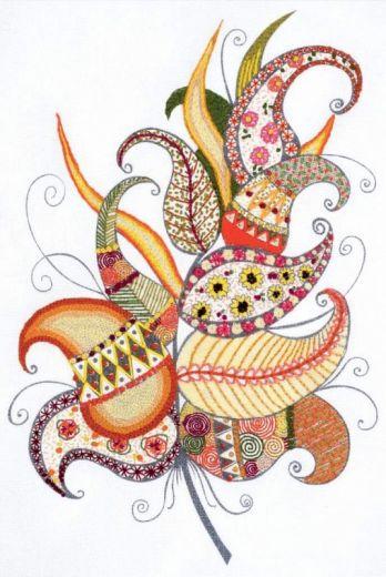 Набор для вышивания крестом Волшебное перо №1586 фирма Риолис