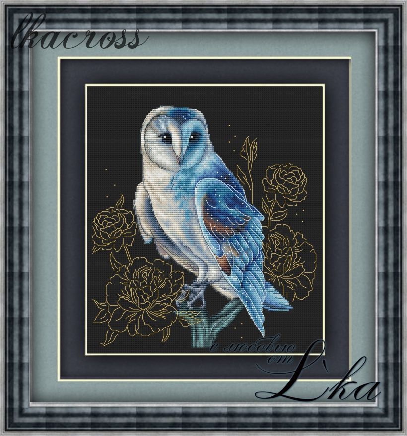 """Night guest"". Digital cross stitch pattern."