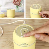Увлажнитель воздуха USB 3 в 1 Can Нumidifier, жёлтый