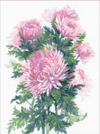 Набор для вышивания крестом Букет хризантем №1595 фирма Риолис
