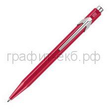 Ручка шариковая Caran d'Ache Office Popline Metal-X красный М 849.780