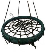"""Подвесные качели """"гнездо"""" диаметром 80 см KIDGARDEN зеленый"""