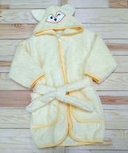 Халат банный махровый с капюшоном V-XA033(k)-MA (01988 желтый) Мамин Малыш