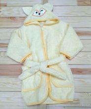 Халат банный с капюшоном махра V-XA033(k)-MA / цвет желтый