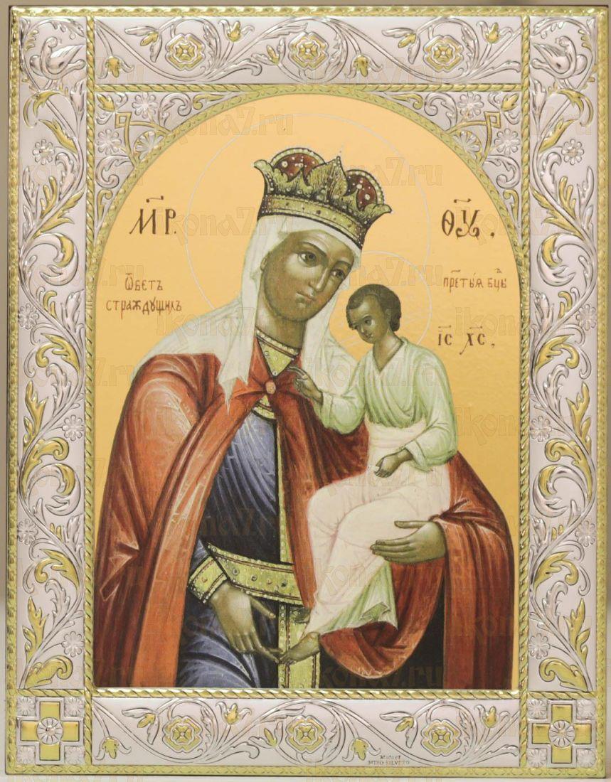 Избавление от бед страждущих икона Божией Матери (14х18см)