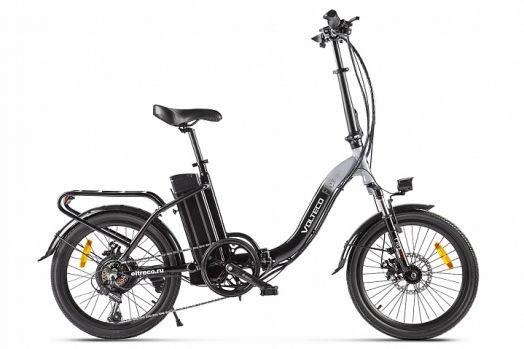 Велогибрид VOLTECO FLEX Черно серый